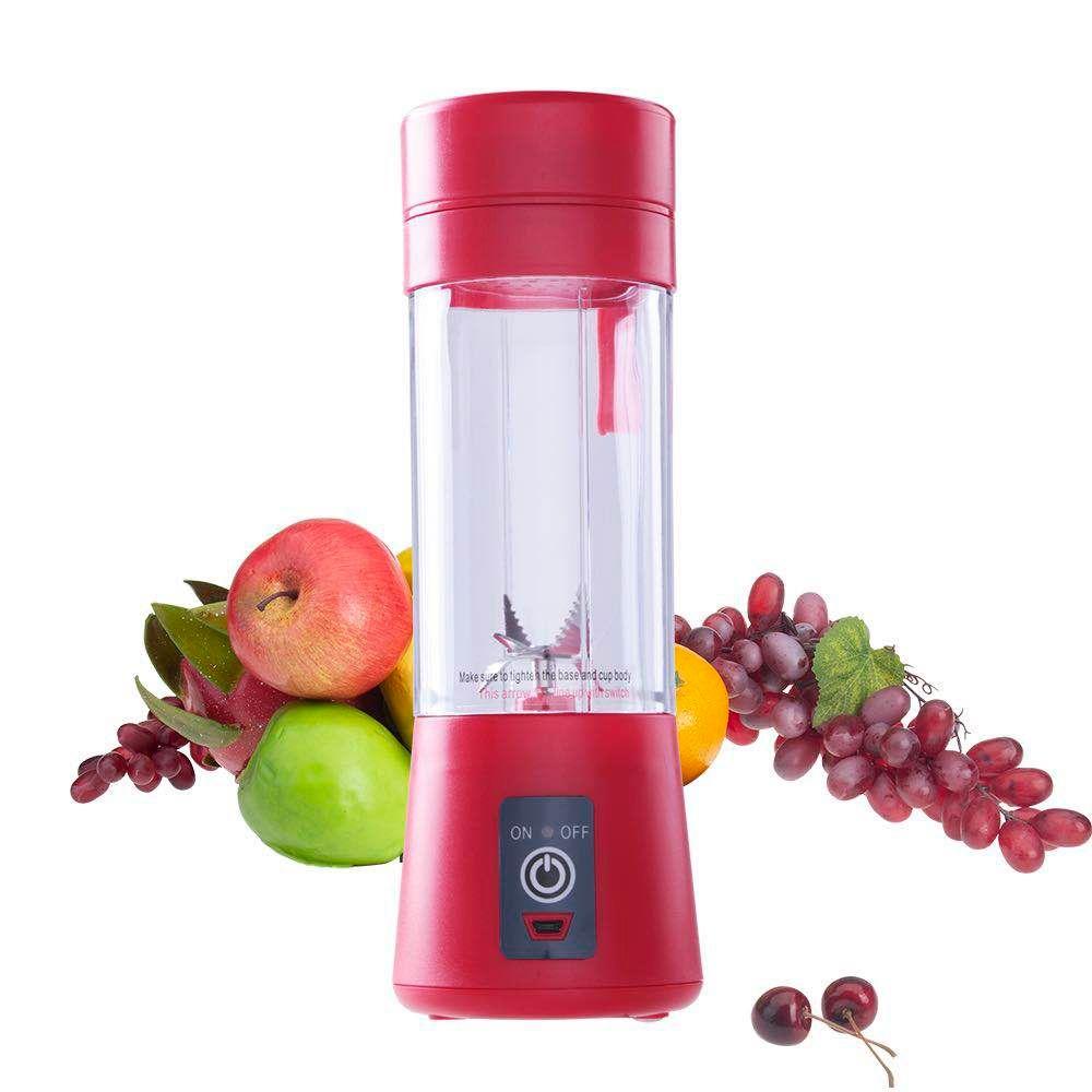 Mélangeur de jus Portable USB presse-agrumes tasse multi-fonction mélangeur de fruits 2 4 6 lame malaxeur livraison directe rouge noir vert bleu Pu