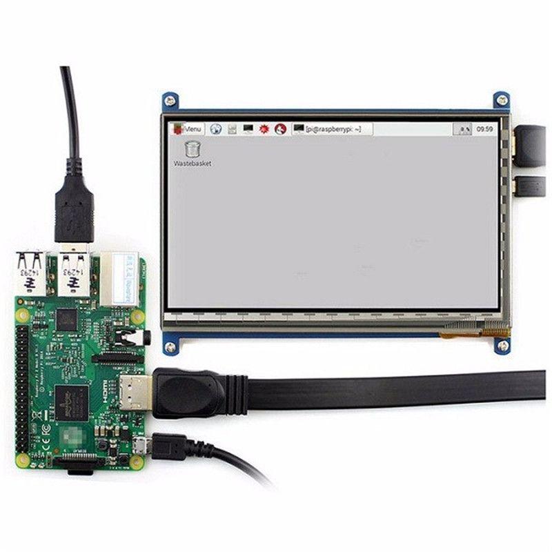 Neue Ankunft 7 Zoll 1024x600 HDMI Kapazitive IPS Lcd-modul 5 Punkt Touchscreen Unterstützung Raspberry pi LCD Display