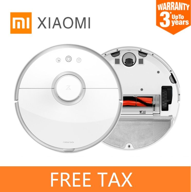 Xiaomi2 Roborock 2 Smart Robot Vacuum Cleaner Planned Automatic Sweeping App Control for Home Dry and Wet Mop free