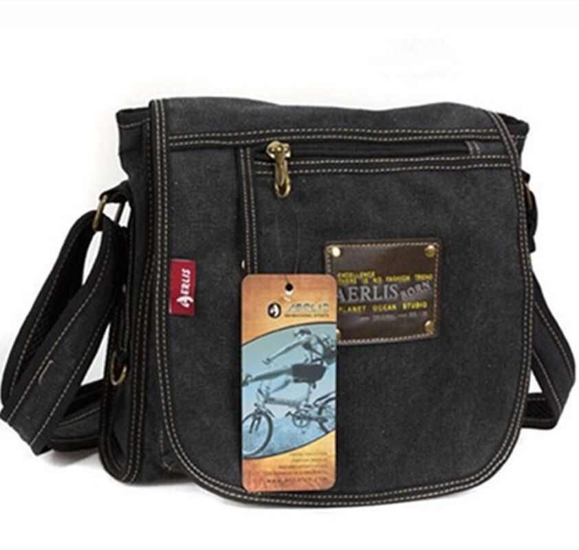 Toile homme Messenger sacs Simple homme sacs à bandoulière sacs à main petits sacs à bandoulière pour femmes Bolsas Femininas Sacolas De Bolsa