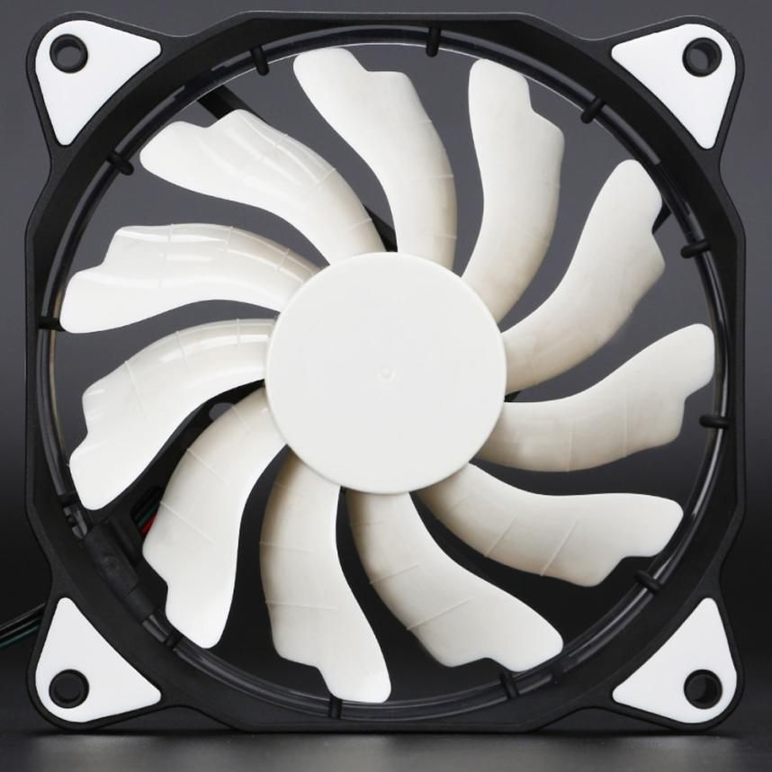 High Quality Quiet 120mm DC 12V 3+4pin LED Effects Clear Computer Case Cooling Fan For Radiator Mod Nov29