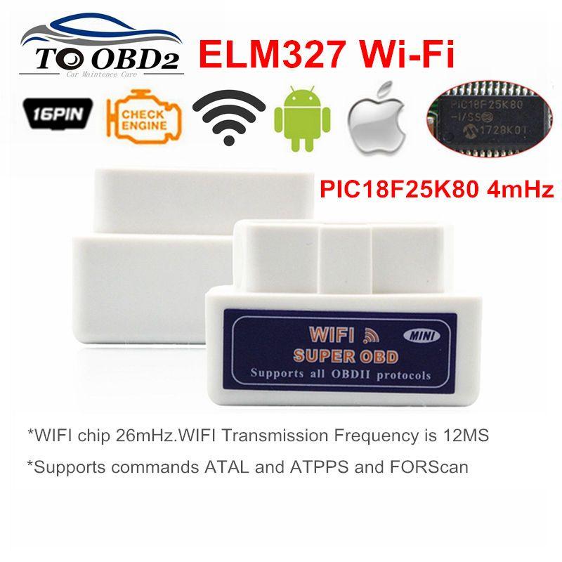 Livraison gratuite voiture OBD 2 Mini ELM327 v1.5 Wifi OBD2 II ELM 327 Wifi Scanner automatique Android Iphone eml327 odb outil de Diagnostic de balayage