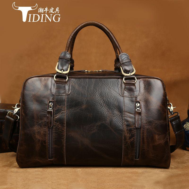 man travel bags cow leather 2017 Men Travel Bags Multifunction Men 100% Genuine Leather Travel Bag Big Capacity Shoulder Handbag
