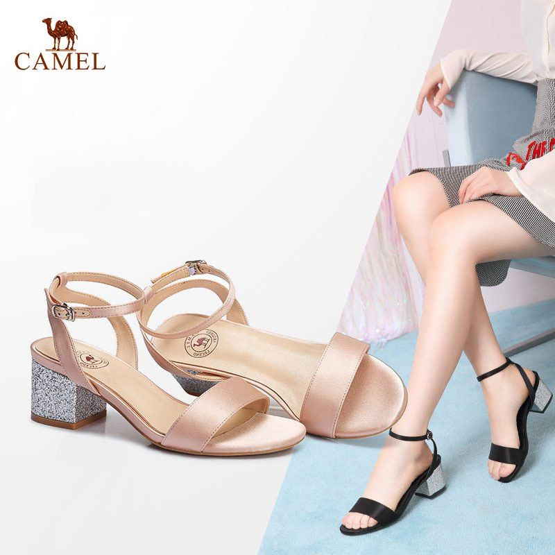 CAMEL Creative Woman Sandals 2018 Summer New Women Elegant Exposed Toe Soft Sandals Little fairy Fashion Leather Sandals