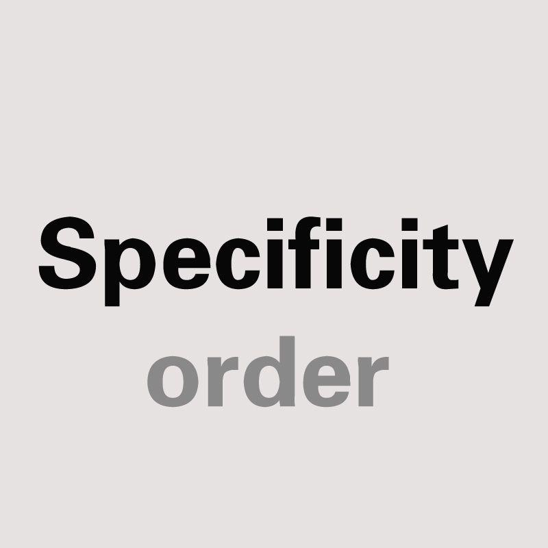 Spécificité commande ne commandez pas sans notre confirmation