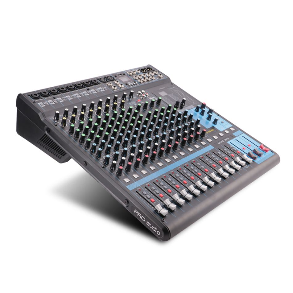 G-MARK MG16MP3 pemium 16 channel Mixer console 24-Bit SPX digital effect 26 languages choose 2 display Bluetooth USB charging