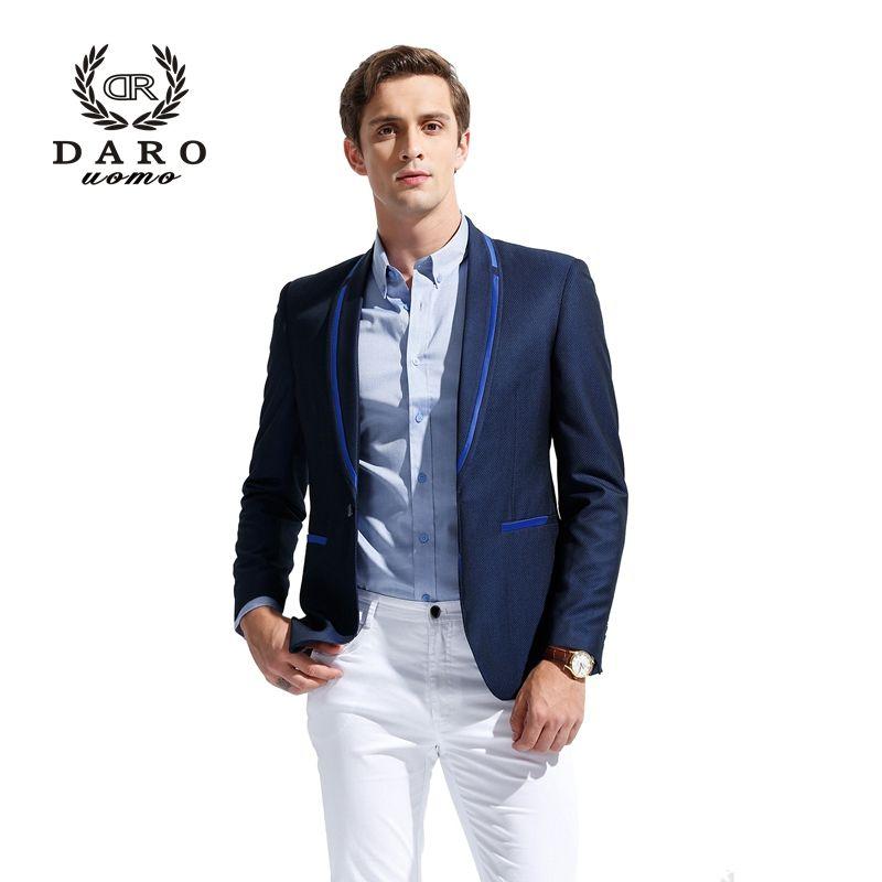 DARO 2018 Men's Blazer Suit Slim Casual Jacket Pants Wedding Party Suit Custom Tailor DR8611