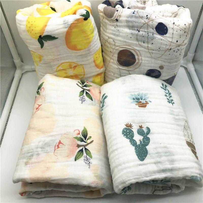 Manta de bebé de algodón calidad mejor que Aden Anais muselina bebé manta swaddle Manta de algodón Abrigo Infantil Del Bebé de usos Múltiples