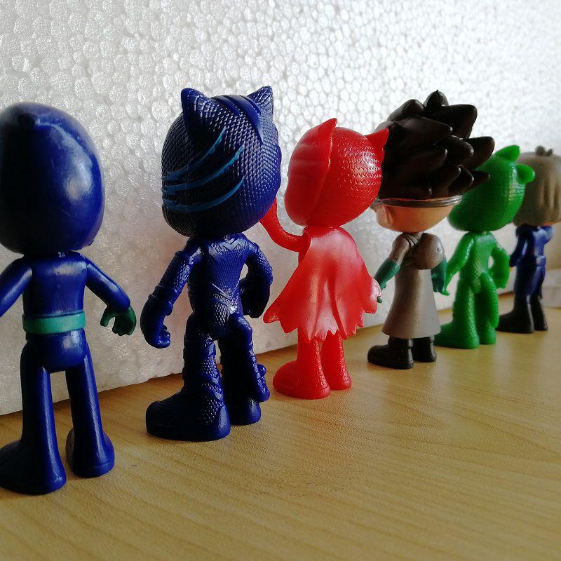 6pcs/Set 7.5-9cm Pajamas Masked Toy Characters Catboy Owlette Gekko Romeo Night Ninja Luna Pjmask Action Figure Toys Kids Gift