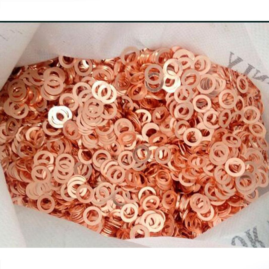 12 Size 300Pcs Solid Copper Crush Washers Seal Flat Ring Gasket Kit