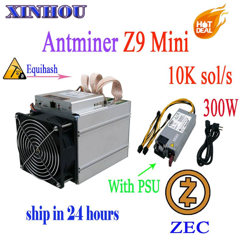 ZCASH/ZEC miner Antminer Z9 mini 10k sol/s ASIC Equihash Mining machine Can be overclocked to14K Miners are better than S9 M3 L3