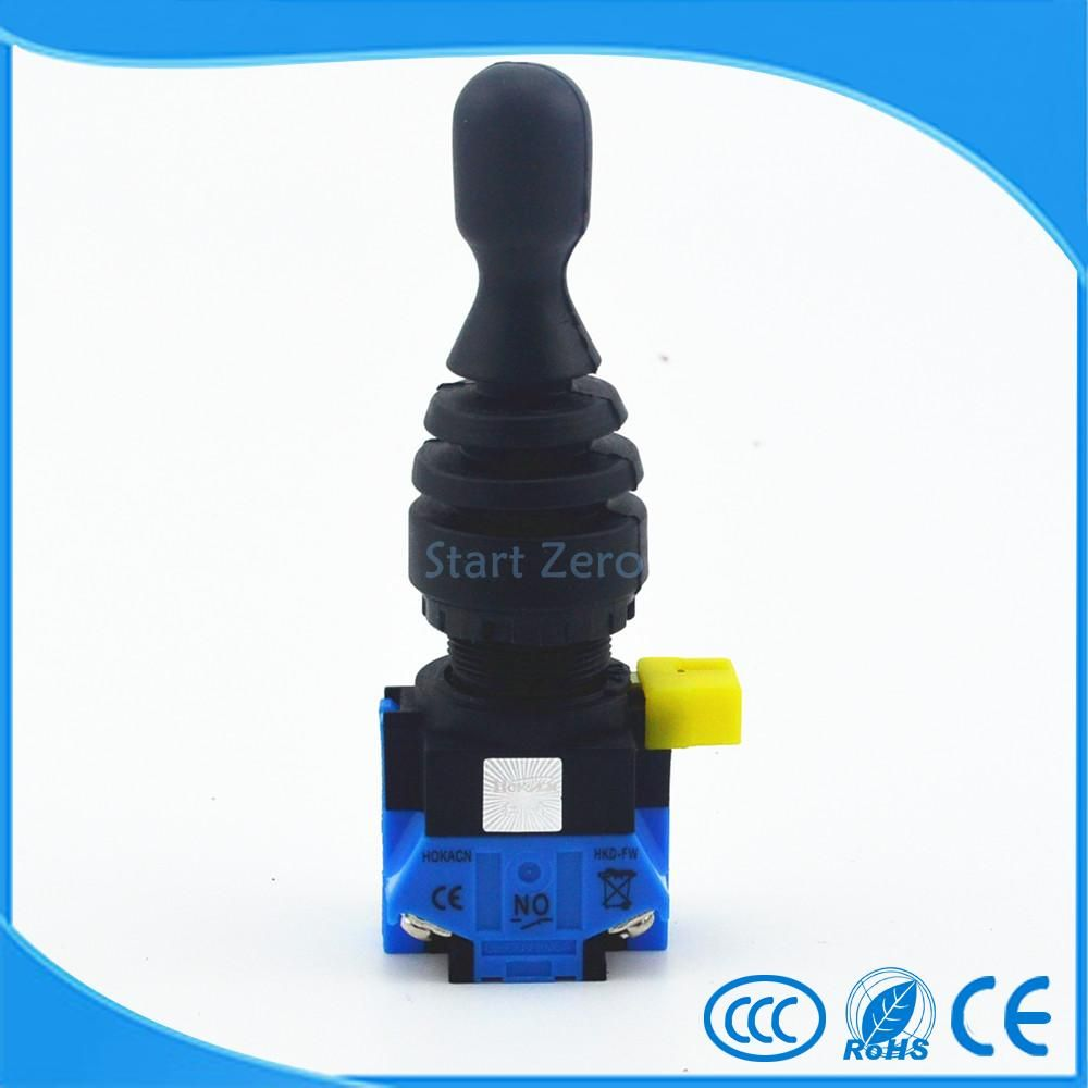 2 Position 2NO Momentary Type Monolever Joystick Switch Cross Button Switch HKL-FW22