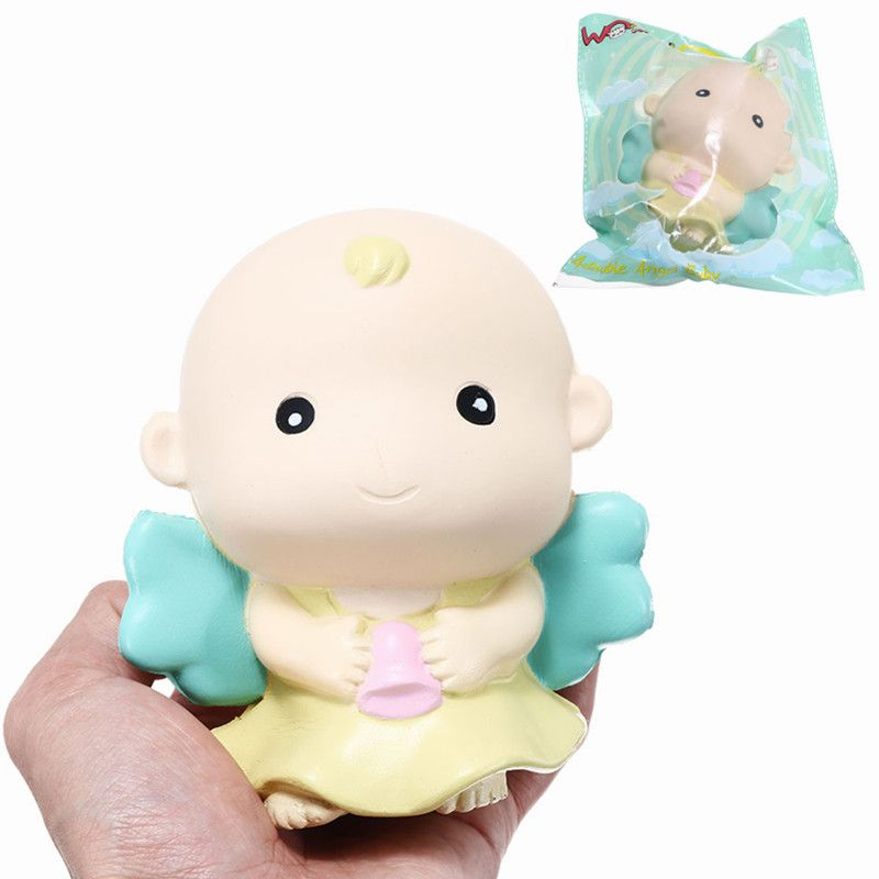 Kawaii Cartoon angel Slow Rising Phone Straps Toy Anti Street Collection Gift Decor Toy Squishied jumbo donut Toy Licensed