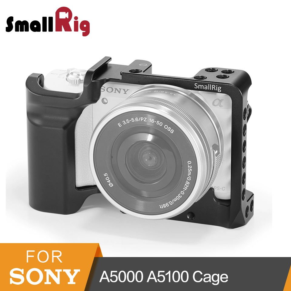 SmallRig A5000 Cage For Sony A5000/A5100 Aluminum Alloy Cage To Mount Tripod Quick Release Extension Kit- 2226