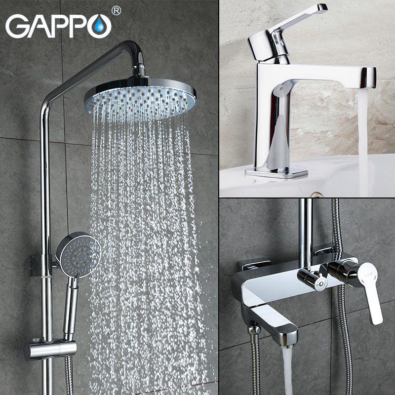 GAPPO dusche wasserhahn becken waschbecken wasserhahn dusche mischbatterie bad wasserhahn mixer Regen Bad badewanne wasserhähne bad dusche set dusche system