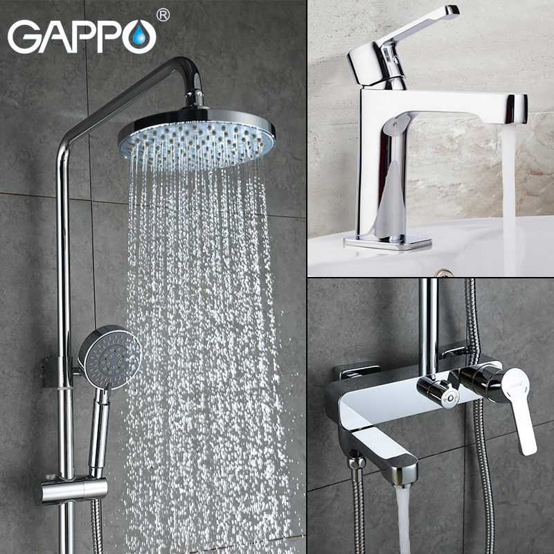 GAPPO shower faucet basin sink faucet shower mixer tap bath faucet mixer Rainfall Bath tub taps bath shower set shower system