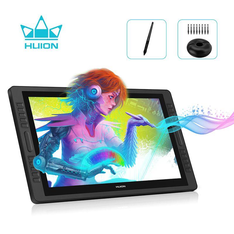 HUION KAMVAS Pro 22 8192 Ebenen AG Glas Batterie-Freies Pen Display Monitor Digitale Zeichnung Monitor Stift Tablet Monitor -- GT-221