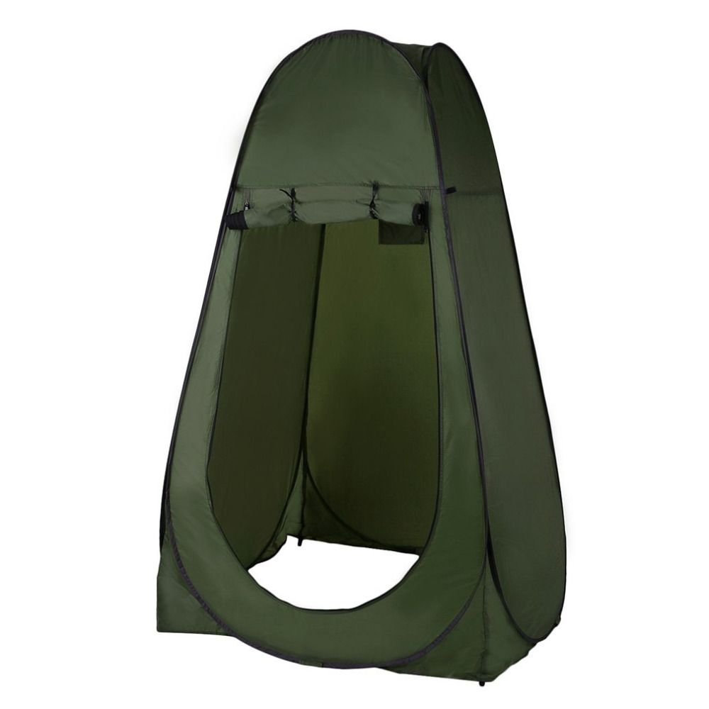 Portable Outdoor Pop Up Tent Camping Shower Bathroom Privacy Toilet Changing Room Shelter Single Moving Folding Tents drop shipp