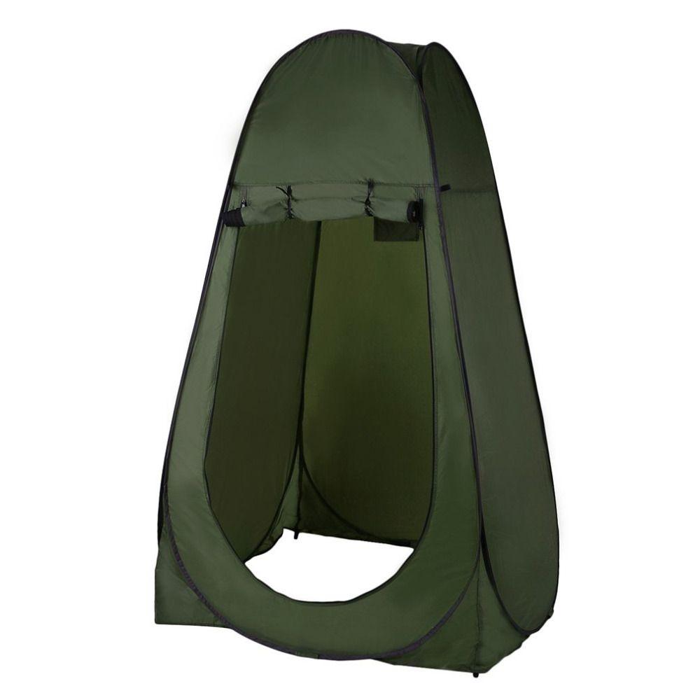 Tragbare Outdoor-pop-up-zelt Camping Dusche Bad Privatsphäre Wc Umkleideraum Shelter Einzigen Moving Faltzelte tropfen shipp