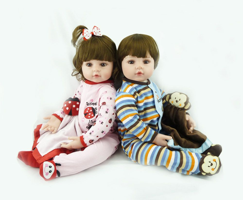 Handmade 24 Inch Reborn Toddler Twin Baby Girl Boy Doll Silicone Vinyl Lifelike Princess Prince Doll Toys for Children Gifts Toy