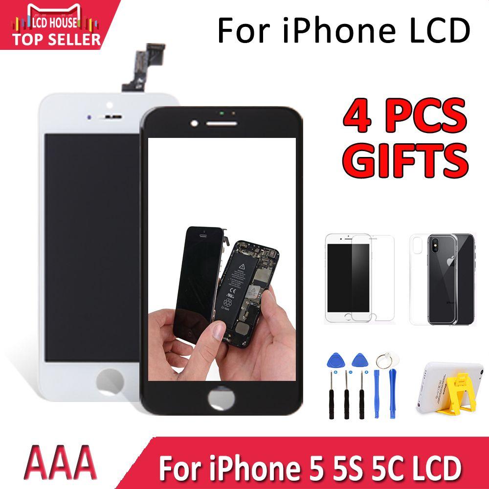 LCD maison pour iPhone 5 5 s 5c LCD Module d'affichage écran tactile numériseur remplacement verre Clone téléphone LCD écran AAA qualité