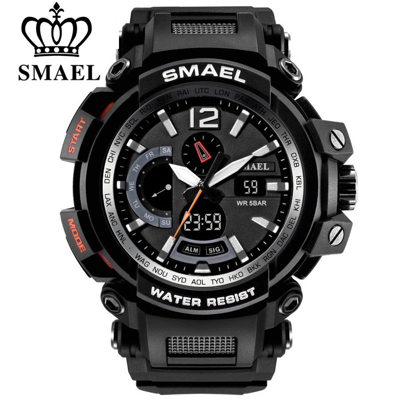 (VIP exclusive link)SMAEL Top Brand Luxury Men Digital LED Military <font><b>Analog</b></font> Watches Outdoor Sport Watch 1702 1545