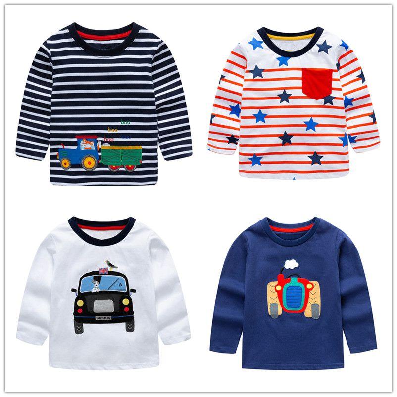 VIDMID bébé Garçons Tops 2018 Marque Enfants T chemises Garçons Vêtements Enfants T-shirt Fille chemisier vestes 100% Coton Bébé garçon Vêtements