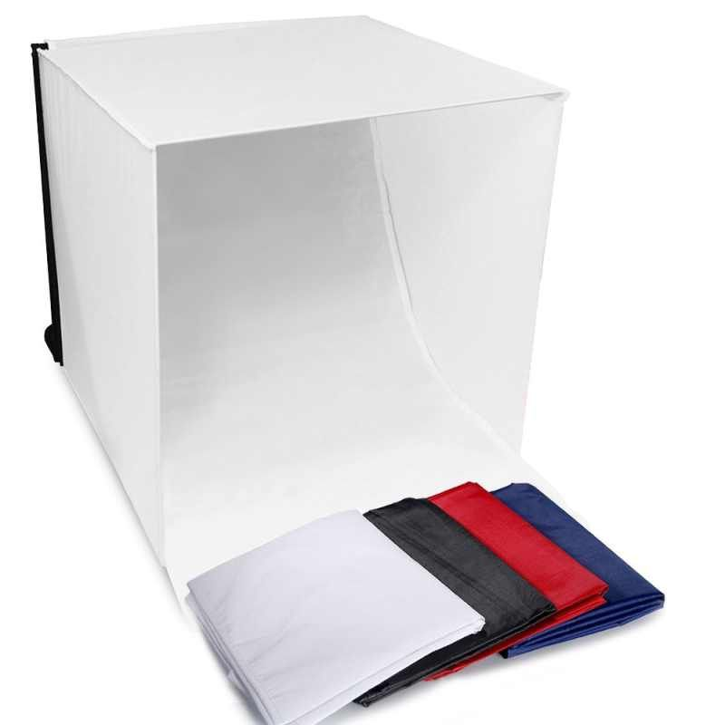 40*40 cm mini caisson lumineux pliant Studio de photographie Softbox lumière LED Studio de Photo boîte souple tente de tir Softbox Cube boîte