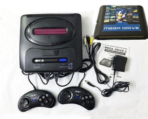 Pour 16 peu Pour SEGA MD2 Jeu Vidéo Console avec NOUS et Japon Commutateur de Mode, 820 en 1 jeu cartouche pour everdrive sega