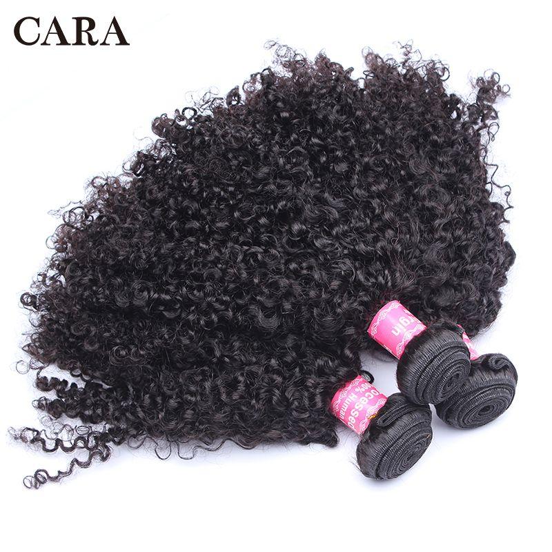 Brésilien crépus cheveux bouclés cheveux humains 1 ou 3 paquets 3B 3C cheveux armure non-remy naturel Extensions de cheveux humains CARA