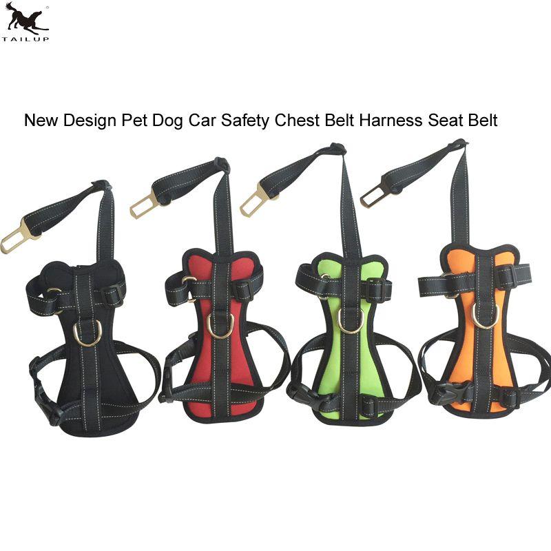 [TAILUP] animaux de compagnie chien ceinture de sécurité voiture chien poitrine ceinture harnais réglage réfléchissant chien marche harnais pour animal chien laisse PP027