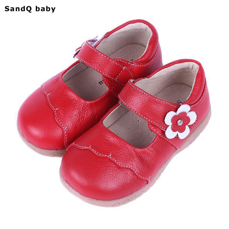 2019 nouveau printemps en cuir véritable enfants chaussures pour filles fleur enfants espadrilles décontractées bébé enfant en bas âge chaussures filles princesse chaussures