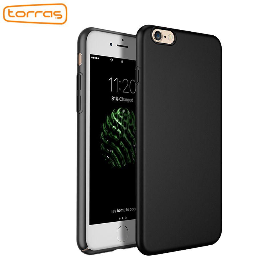 TORRAS Cas de Téléphone Pour iPhone 6 6 s Ultra Mince Couverture slim Pour iPhone 6 6 s Plus PC Gommage De Mode couleurs couverture avec trempé verre