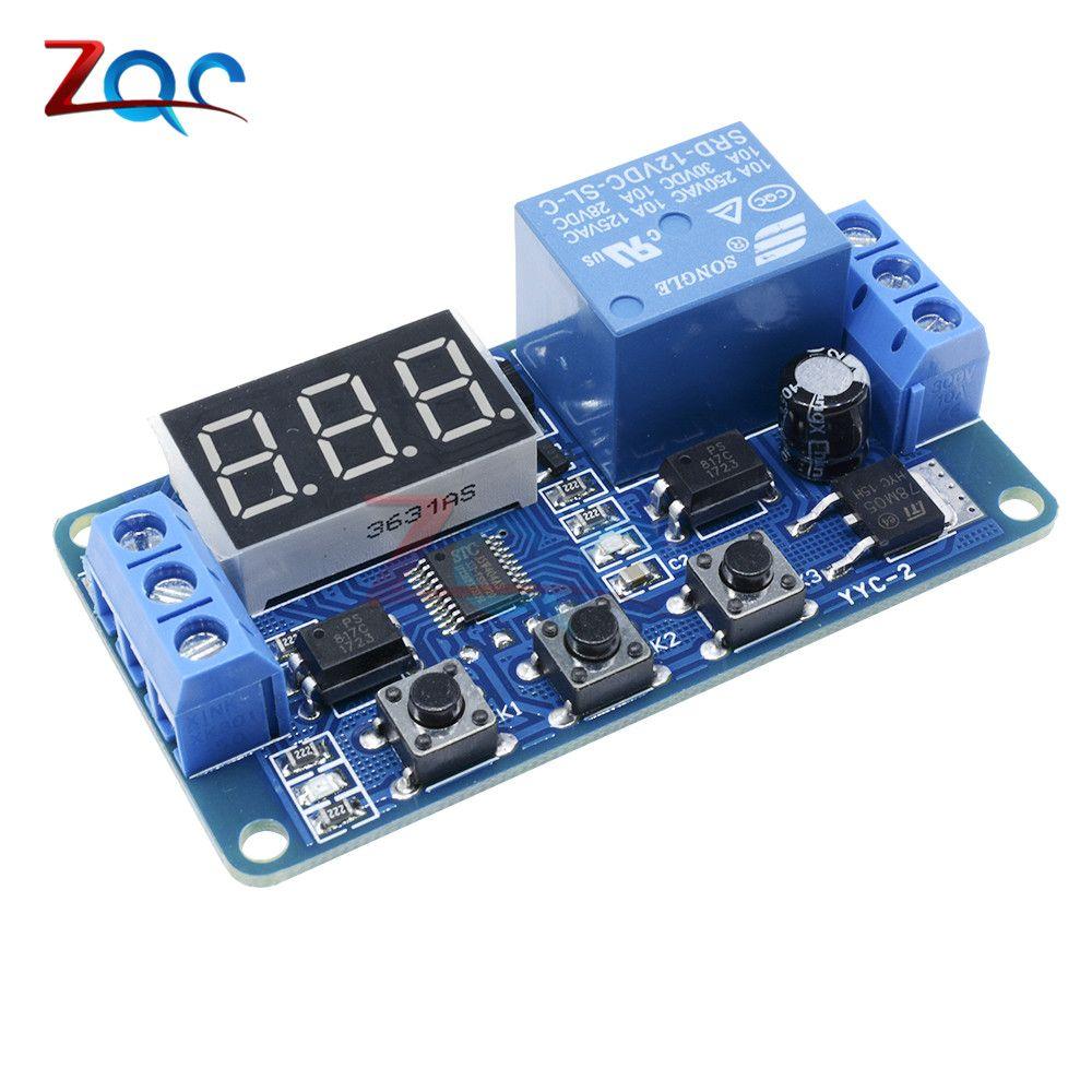 DC 12 V Led-digitalanzeige Home Automation Zeitrelais Triggerzeit Schaltung Zeitsteuerung Zyklus Einstellbare Schalter Relaismodul
