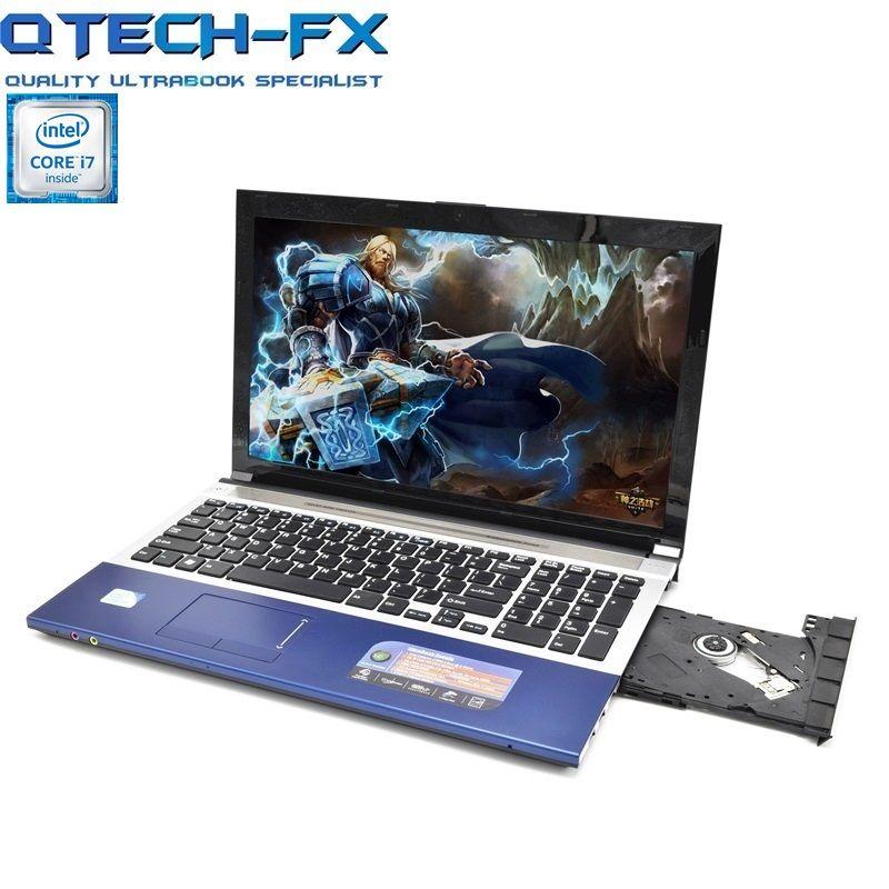 15,6 i7 Gaming Notebook 8 gb RAM SSD 128 gb/64 gb + 750 gb/1 tb HDD DVD Schnelle CPU Intel Metall Arabisch AZERTY Spanisch Russische Tastatur