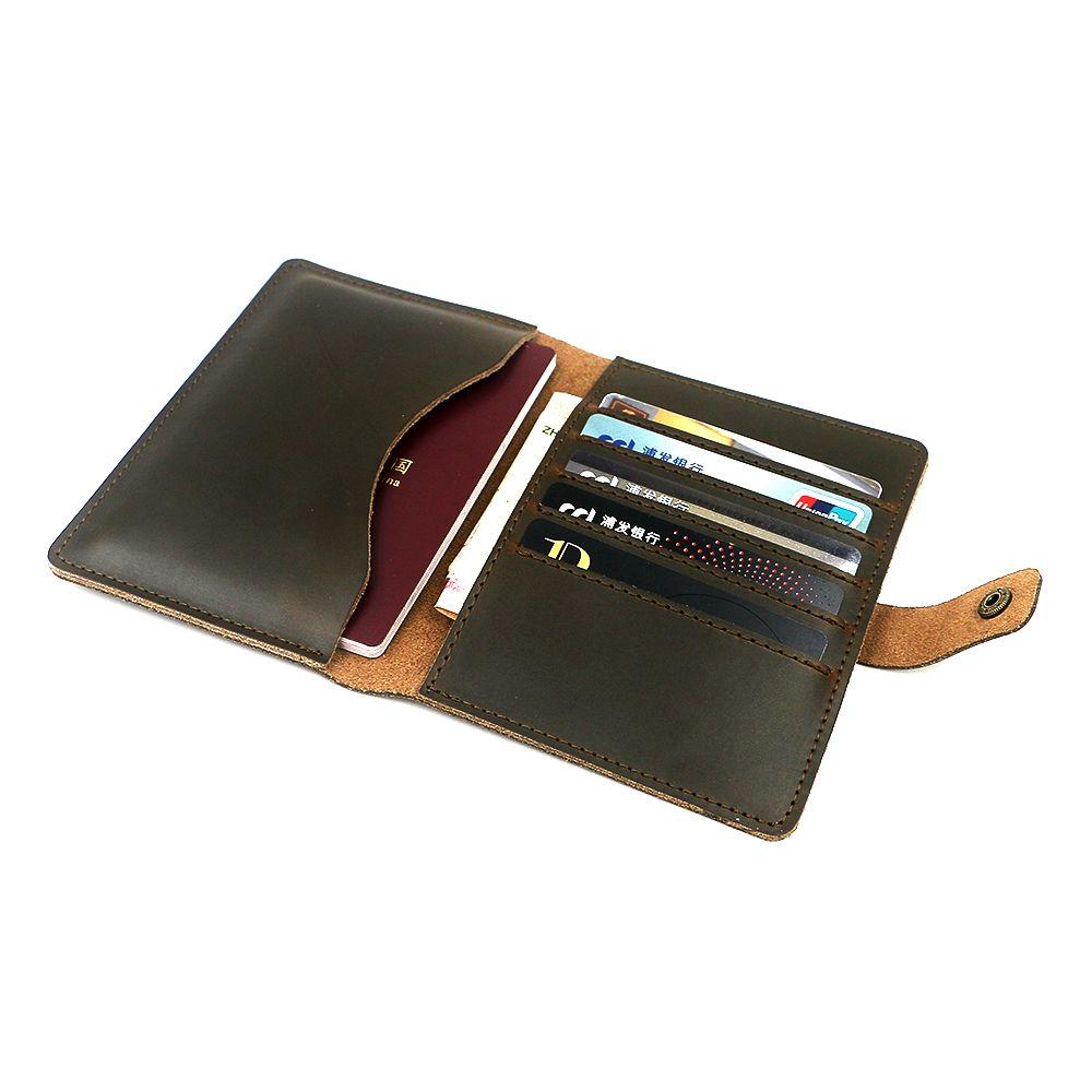 Zolanc Винтаж HASP дизайн Crazy Horse Кожа паспорта держатель Футляр кошелек карты Для мужчин билет Обложка для паспорта