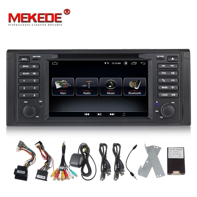 Quad core Android8.0 MIC map card gift 7inch touch screen Car Audio radio for BMW E53 X5/E39 5/M5 97-06 with gps dvd player