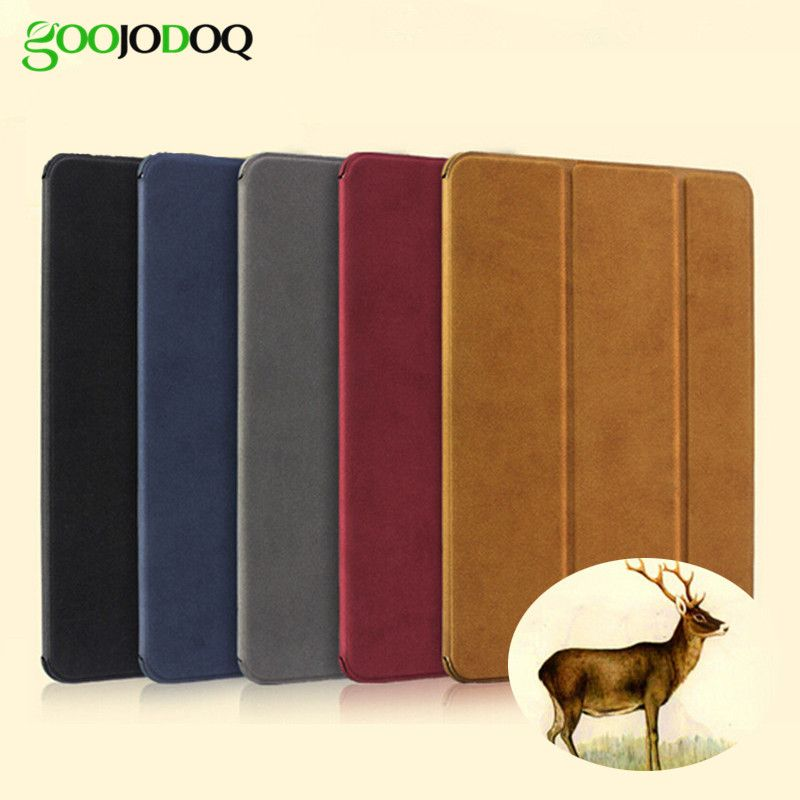 Case for iPad Air 2 / Air 1 Magnetic <font><b>Matte</b></font> Leather Smart Cover for iPad Air Case Stand Flip Auto Wake/Sleep for iPad 5 / 6 Case