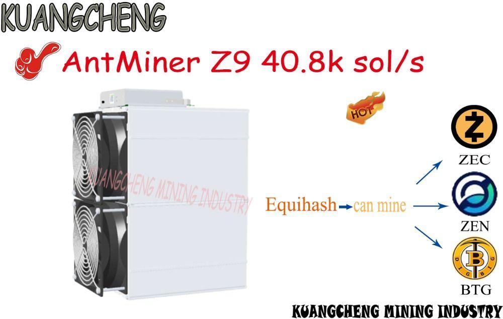 KUANGCHENG verkauf ASIC miner AntMiner Z9 40,8 k sol/s können mine ZEC ZEN BTG Equihash Bergbau maschine neue z9 mienr gute gewinne.