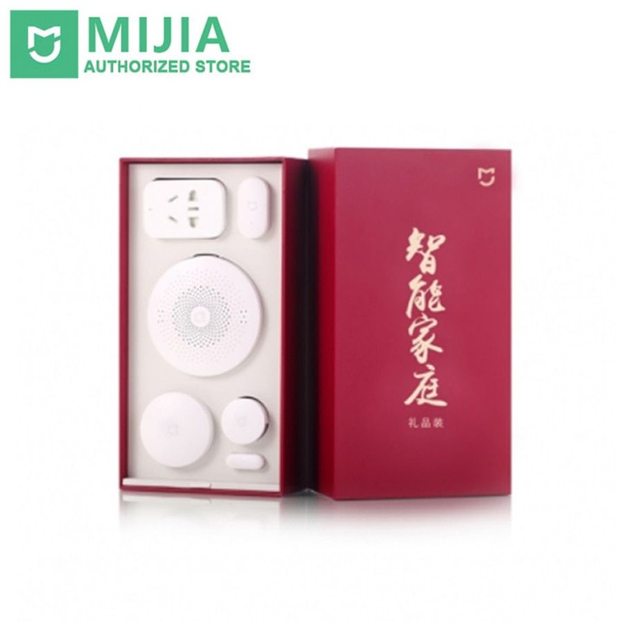 Original Xiaomi Mijia Gift Box Smart Home Kit Gateway Door Window Sensor Human Body Sensor Wireless Switch Zigbee Socket Sets
