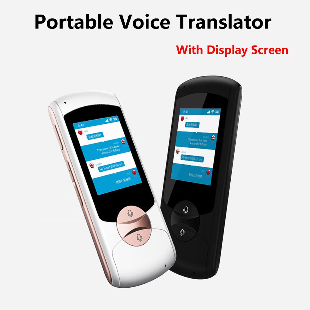 Portable Smart Voice Speech Translator Two-Way Real Time 41 Multi-Language Translation For Learning Travelling Business Meeting