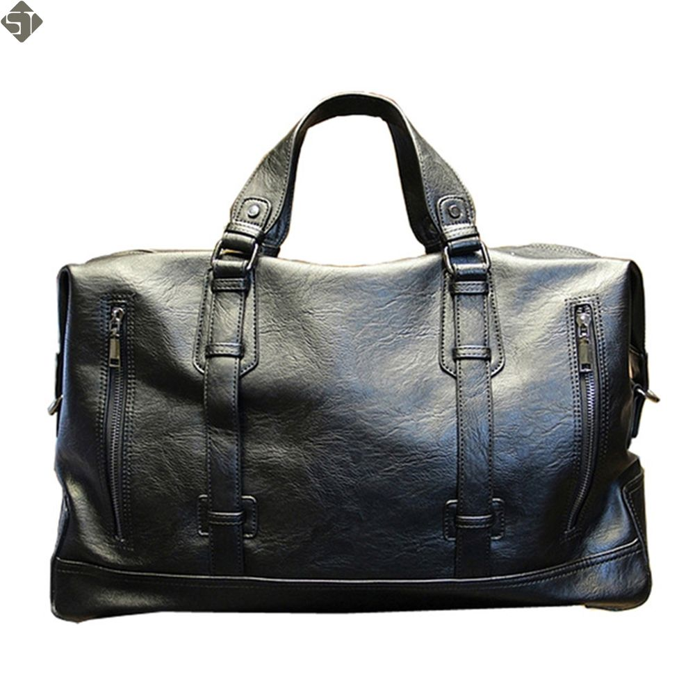 Fashion Men's Travel Bags Brand luggage Waterproof suitcase duffel bag Large <font><b>Capacity</b></font> Bags casual High-<font><b>capacity</b></font> leather handbag