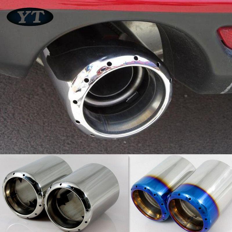 Silencieux de tuyau d'échappement d'acier inoxydable pour Mazda 6 CX-5 mazda 3 2012-2018,2 pièces/ensemble, accessoires d'auto, style de voiture