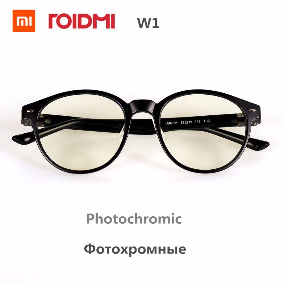 Original Xiaomi Mijia ROIDMI W1 Anti-blue-rays Photochromic Protective <font><b>Glass</b></font> Eye Protector For Play Sport Phone/PC , B1 Update