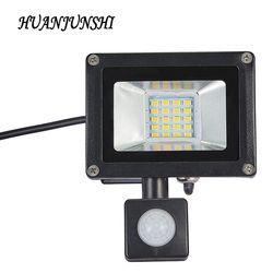 10W 20W Refletor LED Flood Light Searchlight With Pir Motion Sensor 220v Floodlight Waterproof Outdoor Lighting Factory Price