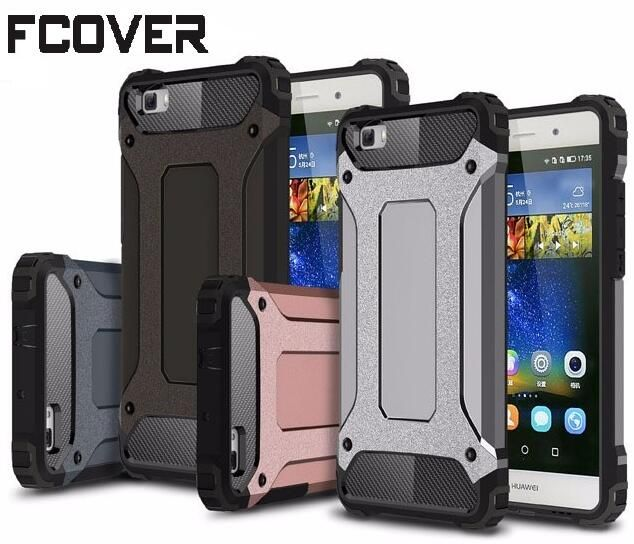 Slim Armure Pour Huawei P10 Lite/P10 Plus/Compagnon 9 Pro/P8 Lite 2017/Nova Plus cas Hybride Difficile En Fiber De Carbone Dur de Couverture Arrière