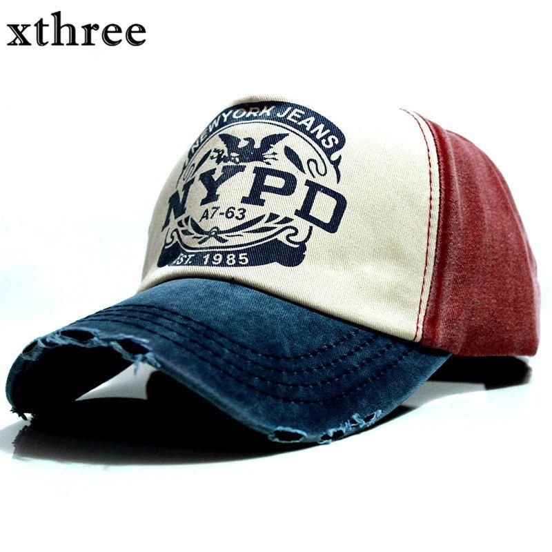 Xthree оптовой бренд кепка бейсболка установлены шляпа Повседневная Кепка Gorras 5 панель хип-хоп Snapback стирка Крышка для для мужчин и женщин унисе...