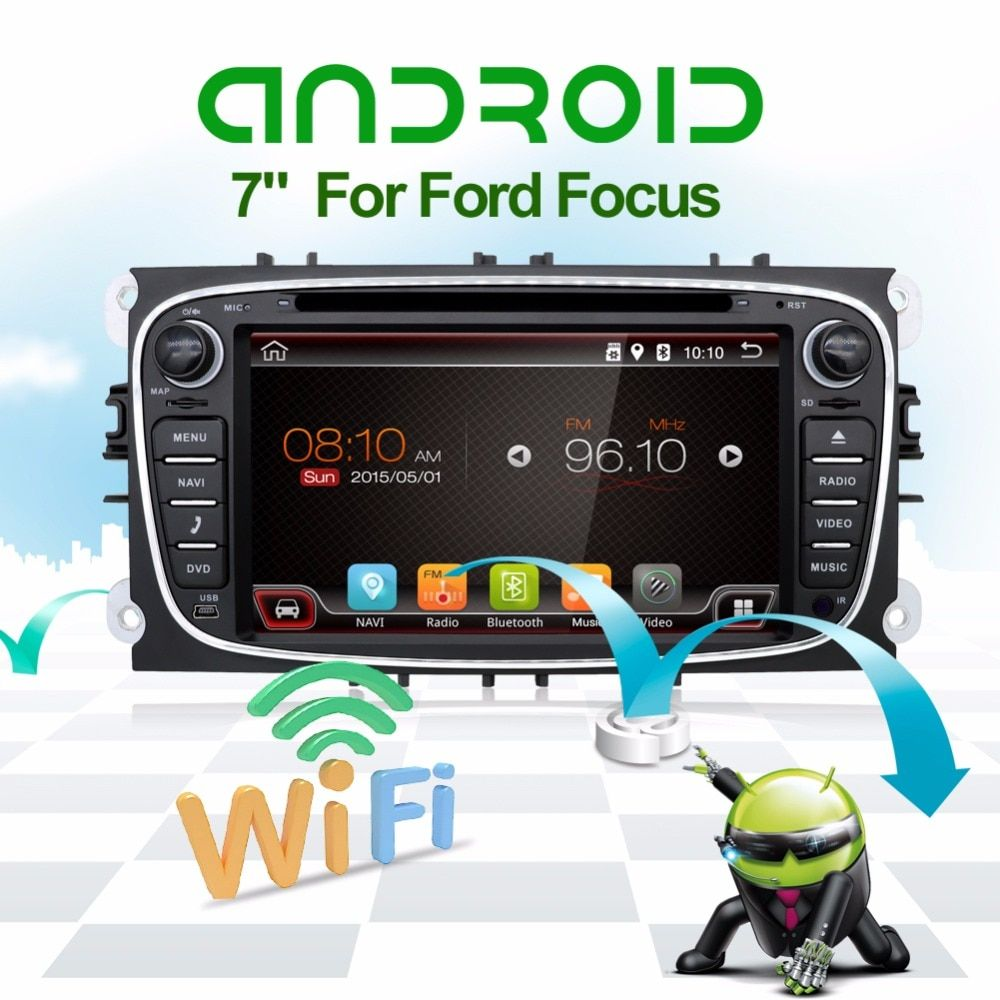 32GB ROM Android 7.1.1 Quad 4Core Car DVD Player GPS For FORD Mondeo S-MAX Connect FOCUS 2 2008 2009 2010 2011 2012 2013