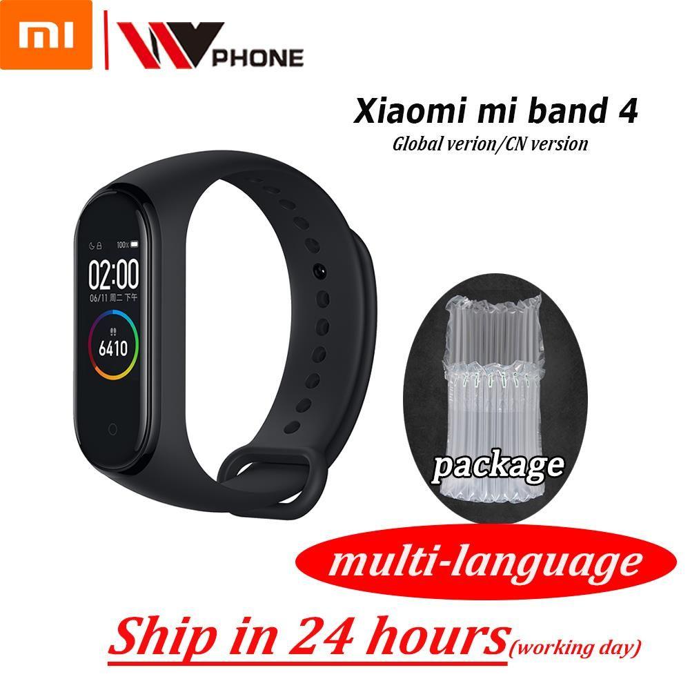 Original XiaoMi Mi Band 4 Bracelet intelligent de remise en forme Bracelet MiBand Band 4 fréquence cardiaque grand écran tactile Message Smartband
