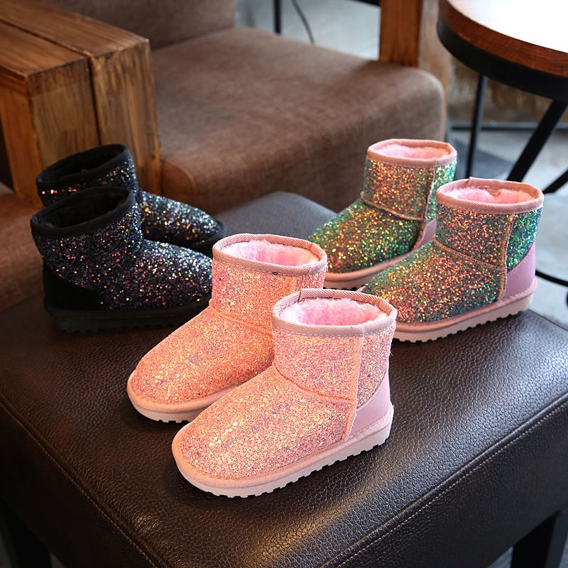 2017 новая зимняя детская зимняя женская обувь сапоги обувь принцессы сапоги высокие сапоги модная повседневная обувь